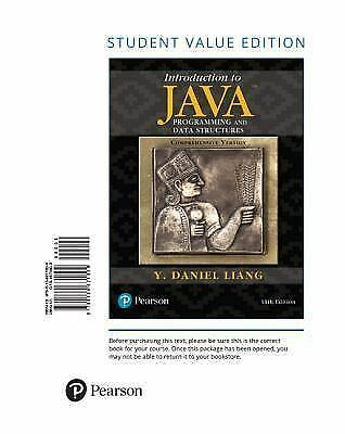 Introduction to Java Programming and Data Structures, Comprehensive Version, St
