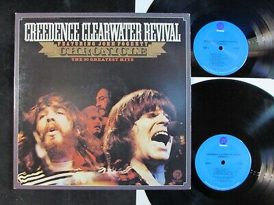 CREEDENCE CLEARWATER REVIVAL Chronicle/20 Greatest Hits VINYL 2-LP Proud Mary EX