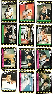 """1983 Monty Gum """"The Story of 007"""" Complete Set of 100 James Bond Movie Cards*"""