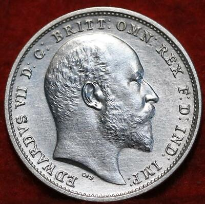 Uncirculated 1902 Great Britain 4 Pence Silver Foreign Coin