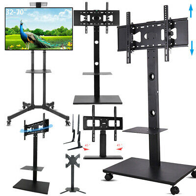 "32 42 55 65 70"" Floor Mobile TV Stand Steady Tabletop TV Mount for Sony LG Vizio"