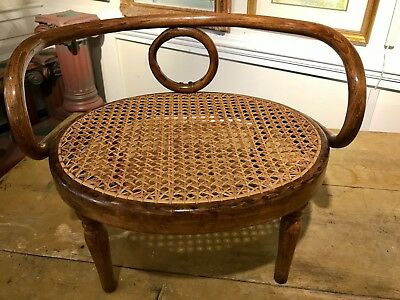 Antique CHILD'S BENTWOOD CHAIR CANE SEAT Thonet Kohn Hoffman Baumann