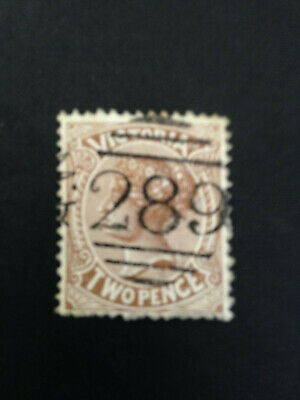 Australian States -  1880-1884 Victoria Two Pence Brown Postage Stamp