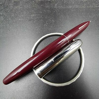 Old Stock Big Size Hero 565 Fountain Pen Stainless Steel Cap Aerometric pen Red