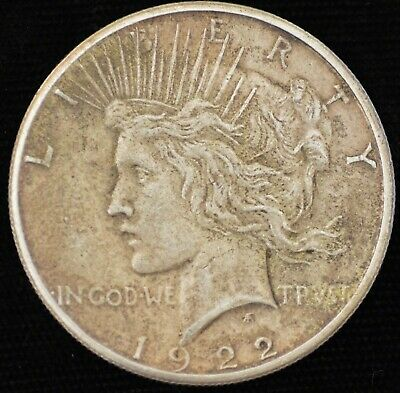 1922-S EXTREMELY FINE  Peace Silver Dollar
