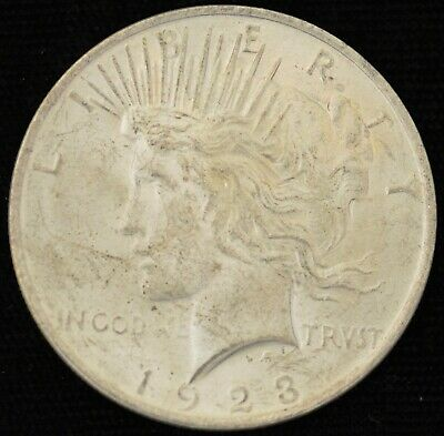 1923 BRILLIANT UNCIRCULATED Peace Silver Dollar #1