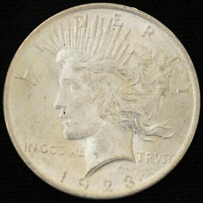 1923 BRILLIANT UNCIRCULATED Peace Silver Dollar #3
