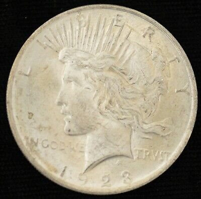 1923 BRILLIANT UNCIRCULATED Peace Silver Dollar #2