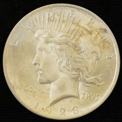1923 BRILLIANT UNCIRCULATED Peace Silver Dollar #5
