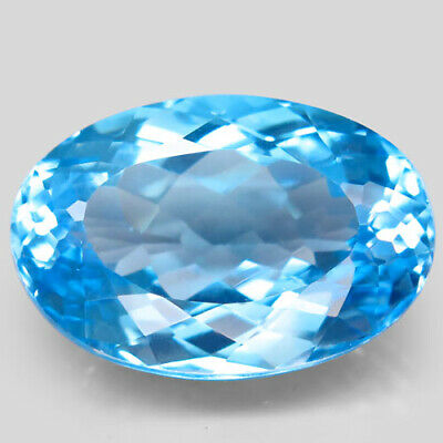 26.08ct.Top Sky Blue Topaz 100%Natural (Brazil) Oval Facet Giant! AAA Brilliant.