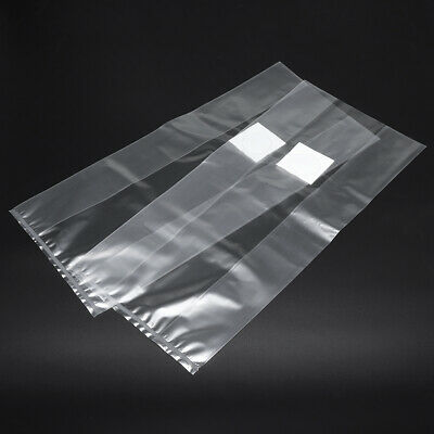 50Pcs 200x450x0.06mm PVC Mushroom Grow Seedling Bags Substrate High Temp Pre Sea
