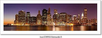 New York - Panoramic View  Of Art Print Home Decor Wall Art Poster - K