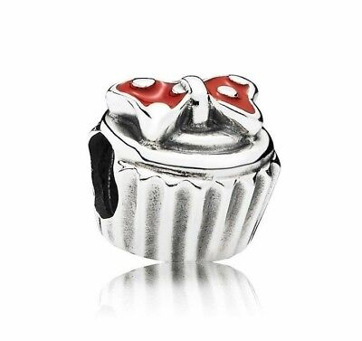 Authentic Pandora Sterling Silver Disney, Minnie Cupcake Charm #791463 #4b