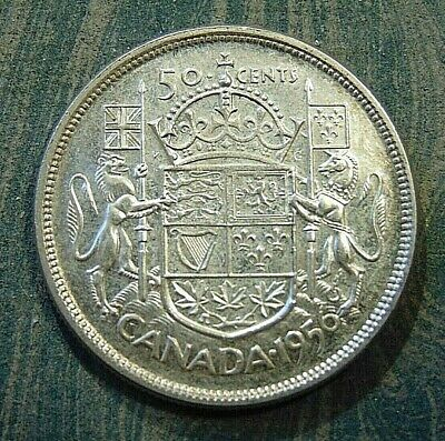 CANADA Canadian 1956 silver fifty 50 cent cent piece half dollar coin