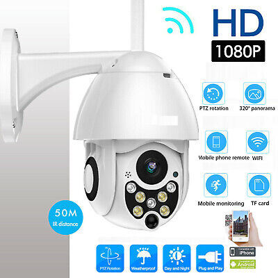 WiFi PTZ Speed Dome Camera 1080P HD Security IP IR Camera Night Vision Pan Tilt