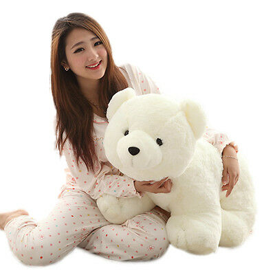 60CM Big Plush Polar Bear Doll Giant Large Teddy Stuffed Soft Plush Pillow Toys