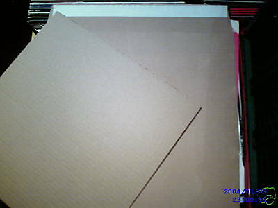 """500 12"""" Lp Strong Brown 625 Micron Peel & Seal Record Mailers & 500 Stiffeners"""