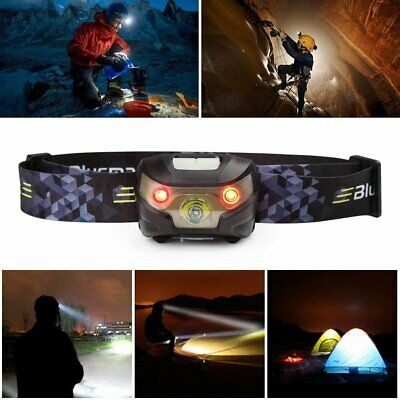 Headlamp Head Torch LED Rechargeable USB CREE Headlight Perfect for Camping