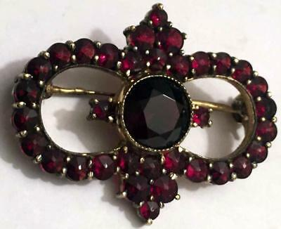 FABERGE Antique Imperial RUSSIAN Brooch with Garnet stone, 84 Silver .