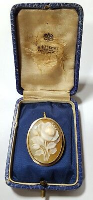 FABERGE Antique Imperial RUSSIAN BROOCH / PENDANT Cameo, 56 gold ( old solid gol
