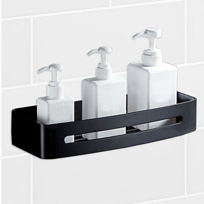 Stainless Steel Shower Caddy Storage Kitchen Rack Holder Wall Mount Rectangle Ba