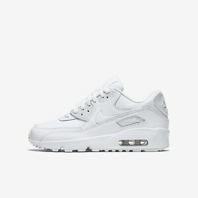 Details about Juniors Nike Air Max 90 Leather GS Blue White Green 833412 410 UK 4.5 EU 37.5