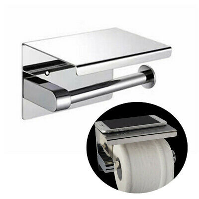 304 Stainless Steel Toilet Paper Roll Shelf Holder Bath Accessory Tissue Wall Mo