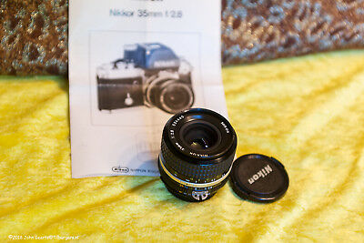 Nikon Nikkor 35mm  f/2.8  The famous  docu. lens Ai-S (and sharpest) version
