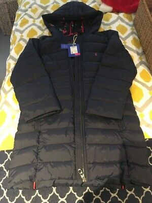 Joules Girls Navy Long Coat New With Label Age 11-12yrs