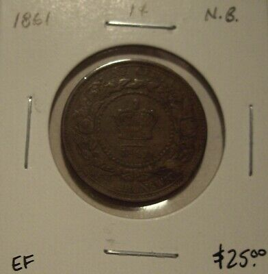 Canada New Brunswick 1861 Large Cent - EF