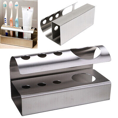 304 Stainless Steel Stand Bathroom Toothbrush Toothpaste Holder Stand Storage Ra