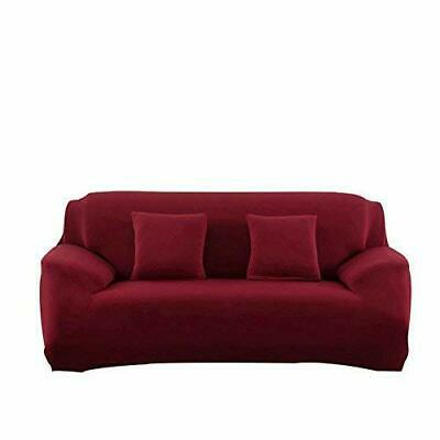 FORCHEER STRETCH COUCH Cover 3 Cushion Sofa Slipcovers (Sofa|Wine ...