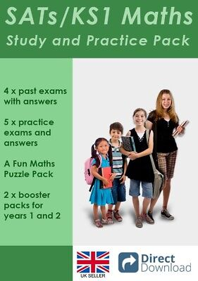 Key Stage 1 Maths SATs Exam Papers and Study Pack (Direct download)