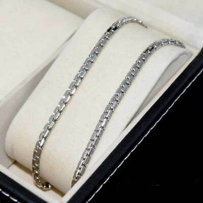 """Charm Stainless Steel Necklace Men Women 24""""4mm Link Snake Chain Fashion Jewelry"""