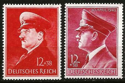 Germany (Third Reich) 1941-1942 MNG Hitler's 52nd and 53rd Birthday Mi 772,813