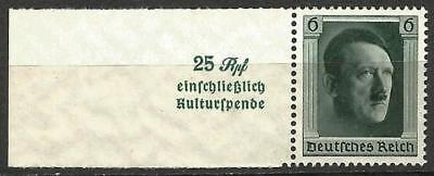 Germany Third Reich 1937 MNH - Culture Fund Hitler's 48th Birthday from MS636