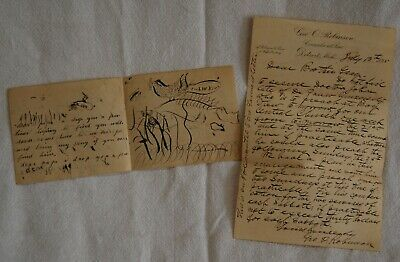 Antique 1895 Handwritten Letter Detroit Mi Subject Preaching