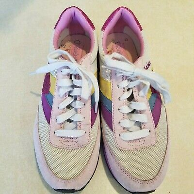 Skechers Cali Shoes Sneakers Size 9 Pink Sparkle Glitter Rainbow Tie Lace Up