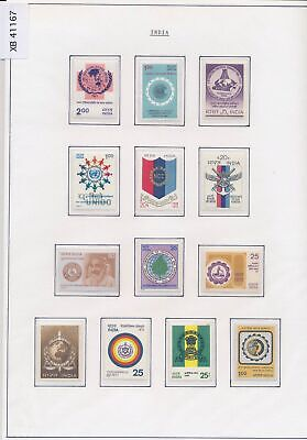 XB41167 India globe organisations heraldry fine lot MNH