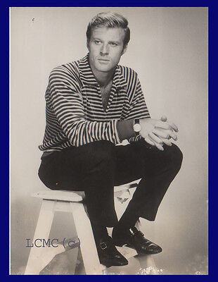 Fotografia Press Photo Vintage 1968 L'attore Robert Redford Film Cinema Arte