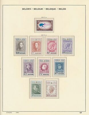 XB41259 Belgium 1972 portraits kings fine lot MNH fv 71 BEF