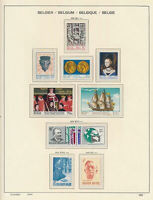 XB41264 Belgium 1973 nice lot of good stamps MNH fv 55 BEF