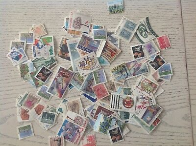 Mix Of 700 Canada Used Stamps-off Paper