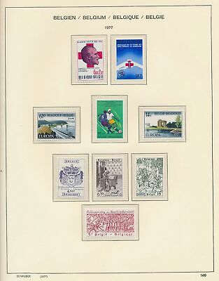 XB41283 Belgium 1977 nice lot of good stamps MNH fv 81 BEF