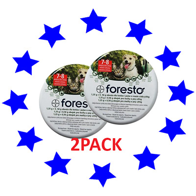 2PACK Bayer Seresto/foresto Flea & Tick Collar for Small Dogs & Cats up to 18lbs