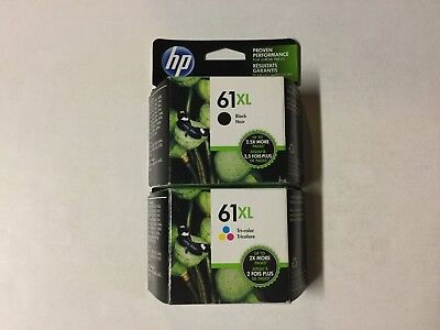 HP Genuine 61XL Black Color Ink Cartridges EXP 04/2020 Combo-Pack DAMAGED BOX