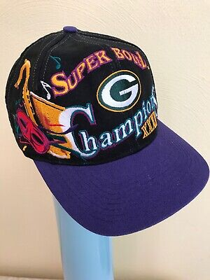 Super Bowl 31 XXXI 1997 Champions Green Bay Packers Hat Sax Mask Logo  Athletic 765b134ef