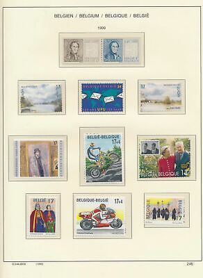 XB41402 Belgium 1999 nice lot of good stamps MNH fv 204 BEF