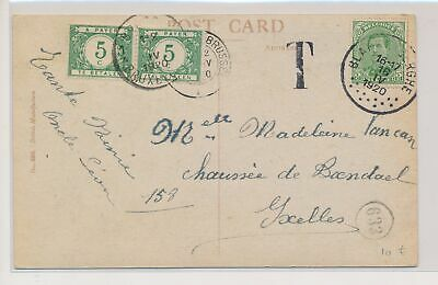 LJ54750 Belgium 1920 good postcard with nice cancels used