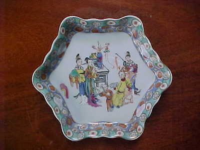 Mottehedah small porcelain tray with oriental scene